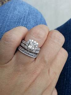 how do you wear your stacked rings weddingbee