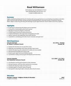 10 volunteer resume templates pdf doc free premium templates