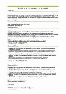 sle applications engineer resume