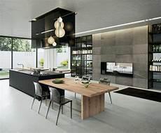 table ilot de cuisine la cuisine 233 quip 233 e avec 238 lot central 66 id 233 es en photos