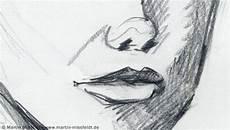 Nase Und Mund Aus Bleistiftzeichnung Marion