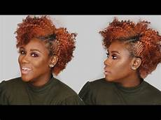 how to quick easy bobby hairstyle for short natural hair youtube