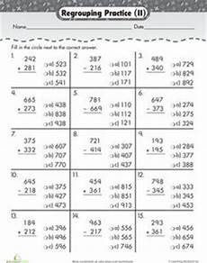 3rd grade math worksheet addition and subtraction word problems practice three digit addition with regrouping