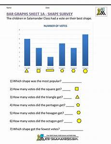 2nd grade math worksheet bar graphs bar graphs grade