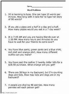 3rd grade math word problems