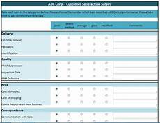 free data collection templates excel customer satisfaction survey manufacturing