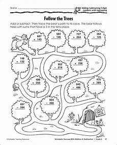 free subtraction color by number worksheets 16323 3 digit subtraction with regrouping coloring sheet math subtraction subtraction activities