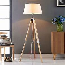 katie floor l with three legged wooden stand lights co uk