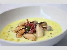 creamy mussel soup with fiery rouille_image