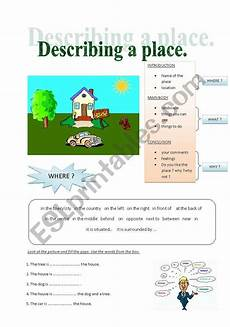 describing places worksheets printables 15977 describing a place esl worksheet by maja o