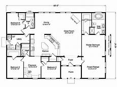 4 bedroom barn house plans image result for four bedroom open house plans 60x40 in