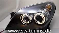 eye scheinwerfer opel astra h black sw tuning