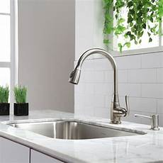 pictures of kitchen sinks and faucets kraus kbu14 premier kitchen stainless steel kitchen sinks sinks efaucets