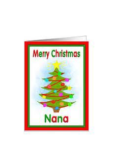 merry christmas nana card christmas cards for nana from greeting card universe