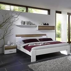 5tlg schlafzimmer wei 223 walnuss 140cm futonbett