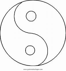 ying yang ausmalbilder malvor
