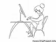 Bilder Zum Ausmalen Am Computer Frau Tippt Am Computer Malvorlage