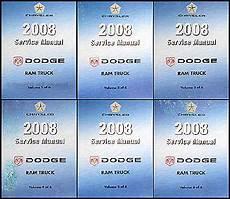 free car repair manuals 2008 dodge ram on board diagnostic system 2008 dodge ram truck repair shop manual original 6 volume set