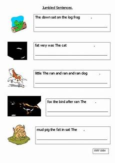 jumbled sentences worksheet for 3rd 4th grade lesson planet
