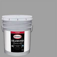 glidden diamond 5 gal hdgcn63 granite grey flat interior paint with primer hdgcn63d 05fn the