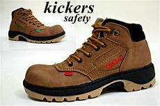 jual sepatu boots kickers safety shoes boot pria murah proyek casual caterpillar crocodile