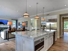Kitchen Room Interior Open Concept Kitchen Enhancing Spacious Room Nuance