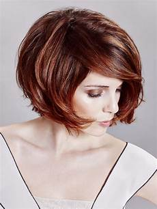 sexy bob hairstyle with sophisticated lines and deep hair