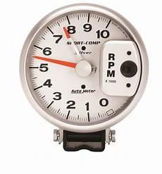 auto meter 3910 sport comp silver tachometer autoplicity