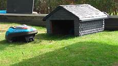 Garage Für Mähroboter Gardena - m 228 hroboter garage aus schiefer gardena r70li lawn mower