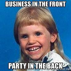 business in the front party in the back mullet girl