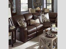 Awesome Reclining Living Room Furniture #4   Brown Leather