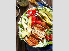 Grilled Chicken Salad Recipe with Avocado ? strawberries