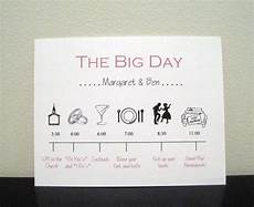Wedding Timeline Invitations
