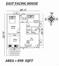 east facing house plans as per vastu 28 3 quot x35 9 quot the perfect 2bhk east facing house plan as per