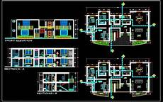 autocad house plans free download 2 storey house floor plan 18x9 mt autocad architecture