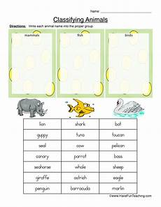 animals classification worksheets 13819 classifying animals worksheet mammals fish or birds