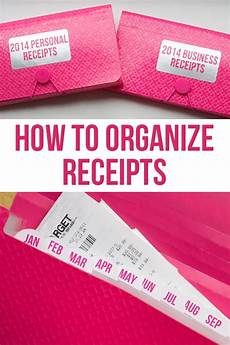 how to organize receipts i heart planners