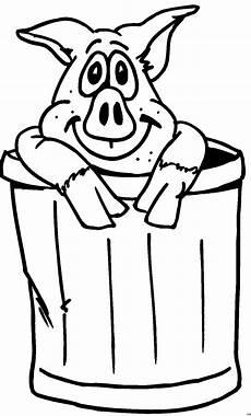 Lustige Schweine Ausmalbilder Schwein Im Muelleimer Ausmalbild Malvorlage Comics