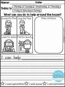 free daily writing prompts teaching biilfizzcend products kindergarten writing prompts