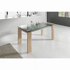 table sejour design salle 224 manger table rectangulaire design verre tremp 233