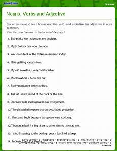 nouns verbs and adjectives worksheet download education world