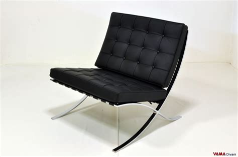 Poltrona Barcelona Autocad : Barcelona Armchair In Black Leather With Steel Structure