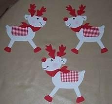3 weihnachtselche fensterbild aus tonkarton rot weiss