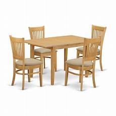 nova5 oak c 5 pc table and chairs kitchen dinette table and 4 kitchen dining chairs