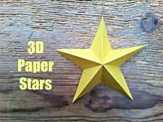 sterne basteln papier crafts simple 3d paper
