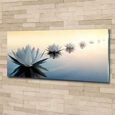 wandbilder glas glas bild wandbilder druck auf glas 125x50 deko blumen