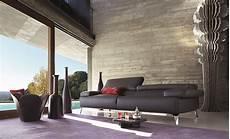 Roche Bobois Graphite Leather Sofa Design Philippe