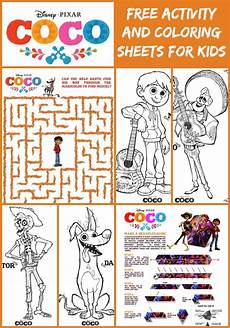 coco activity sheets and more fun disney coloring pages for kids