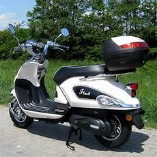 Motorroller 50ccm Retro Roller Mit 45 Km H Flash Weiss