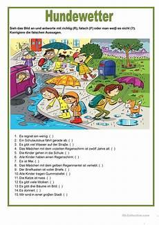 isl german worksheets 19665 bildbeschreibung hundewetter bildkomposition lernen kinder lernen